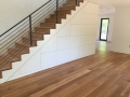Wide plank and detailed stairs